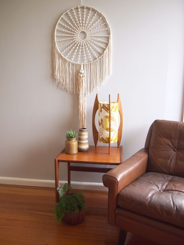 Stilvolle Wanddeko: Wandbehang In Weiß