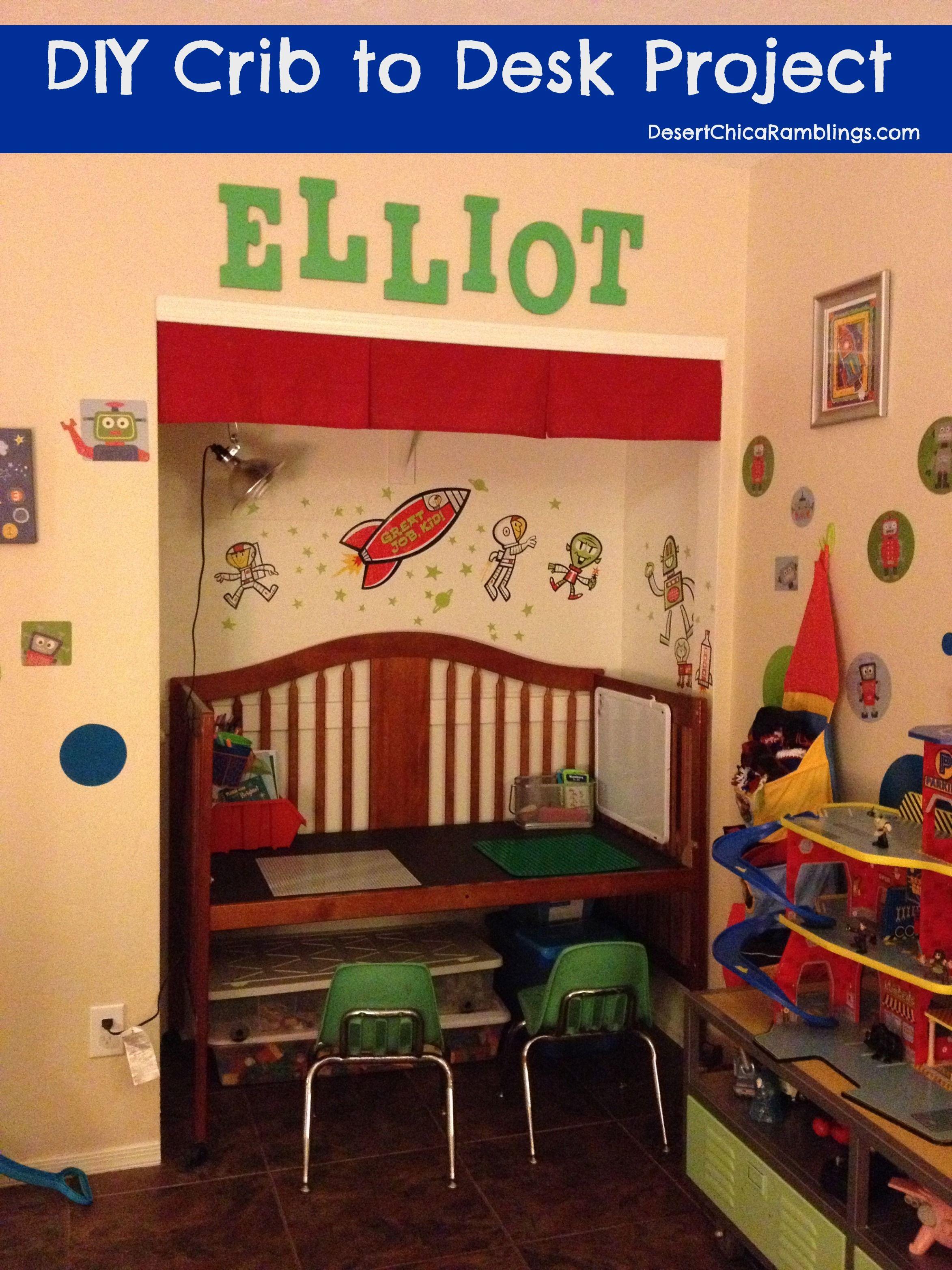 Convert Crib Into Desk Diy Cribs Old