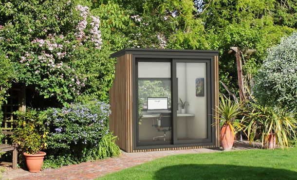 Small garden office eden garden rooms tuinhuizen for Garden studio uk