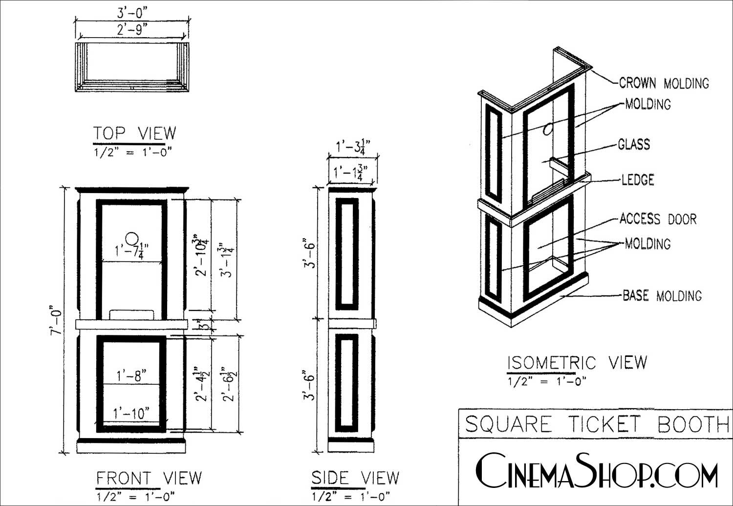 Home Theater Entrance With Ticket Booth