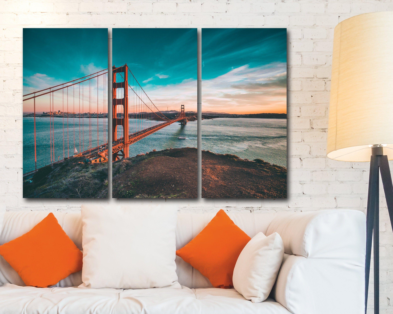 Bridge Canvas Golden Gate Bridge California San Francisco Wall Art Home Decor Usa America Giclee Wall Art Home Decor Poster Bridge Canvas Wall Art Canvas