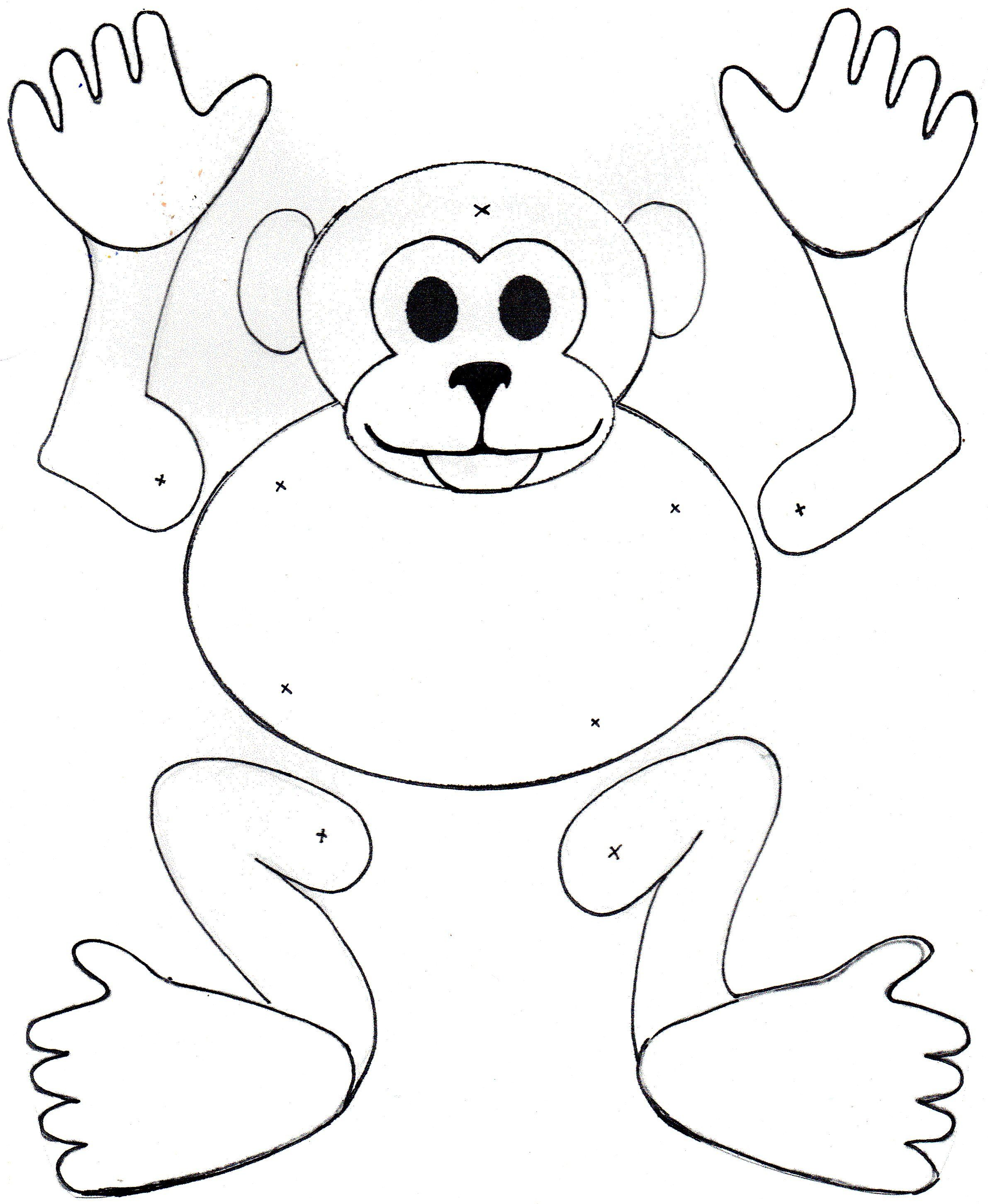 Coloring pages gorilla