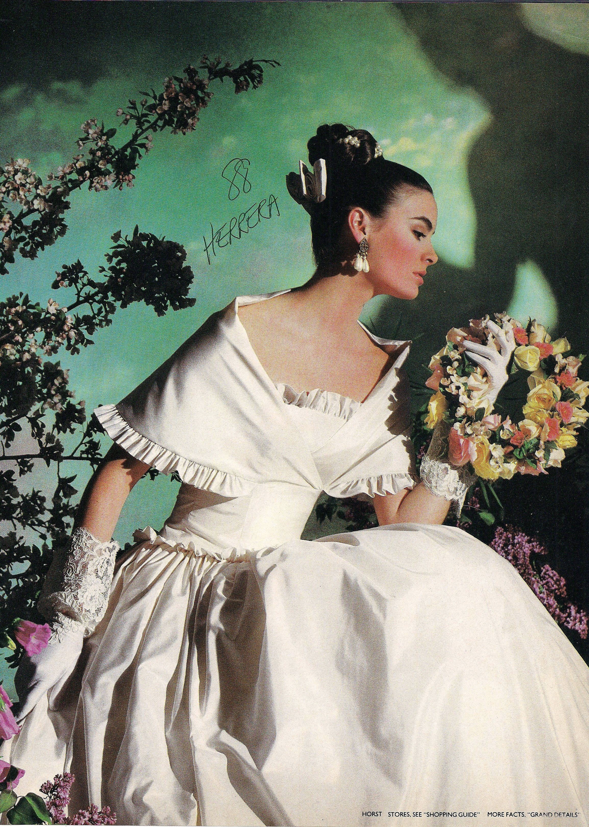 Atypical restrained bridal gown design by carolina herrera