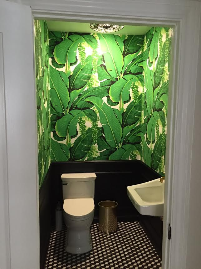 Brazillance Banana Leaves designed by Dorothy Draper Installed by Jegal Wallpaper installers