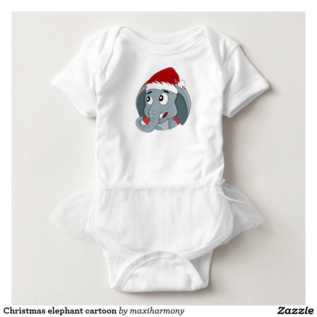 Christmas elephant cartoon t-shirts