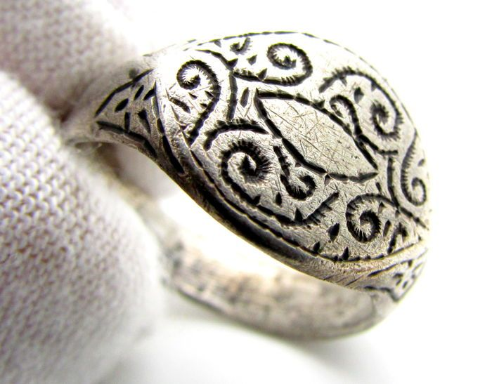 Viking Silver Ring With Runic Symbol 17mm Catawiki Auction House