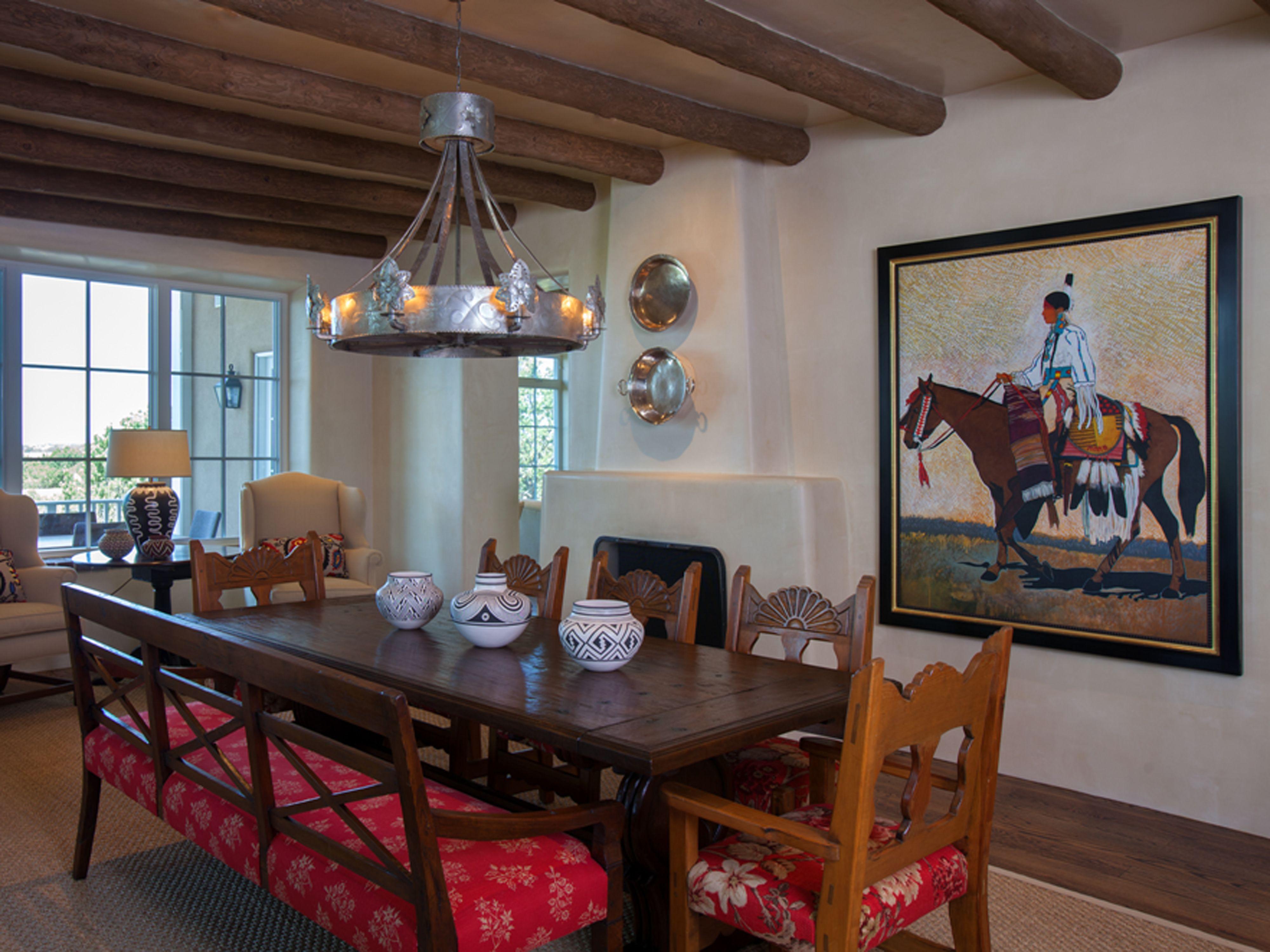 Step Inside A Stunning Adobe Home In Santa Fe Southwest