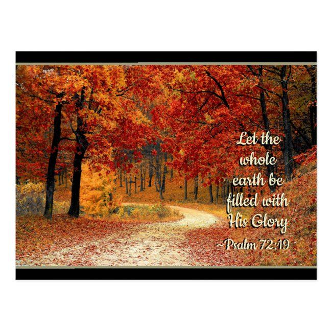 Psalm 72:19 Let the Earth be Filled with His Glory