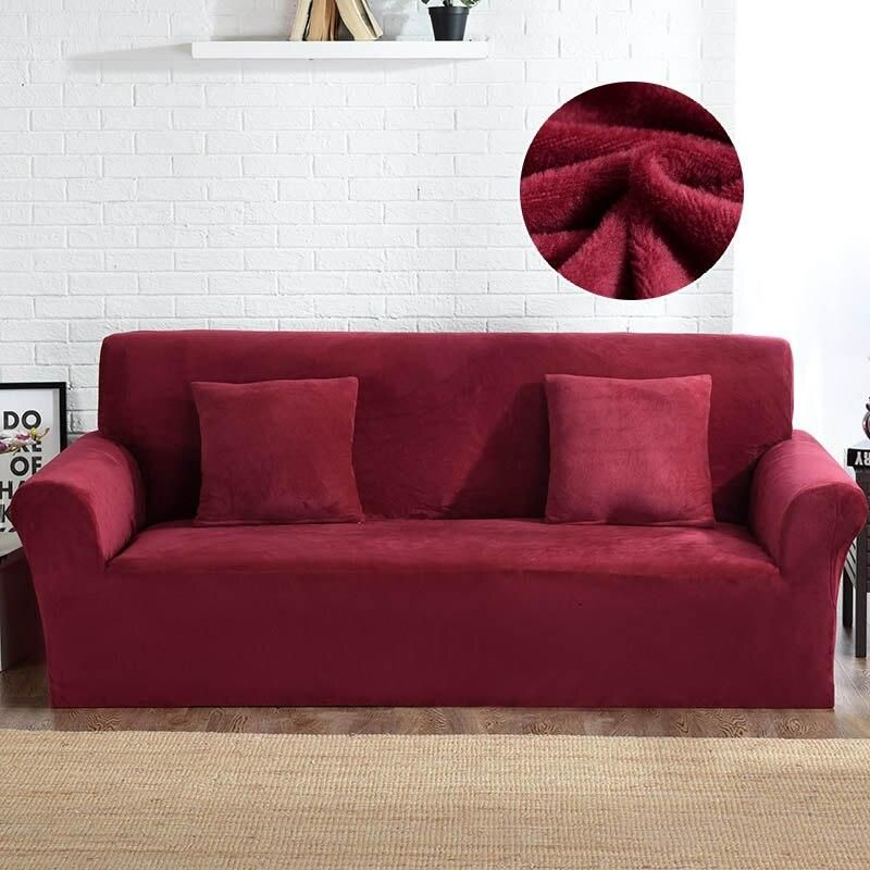 Plush Couch Covers Velvet Couch Slipcovers (con imágenes