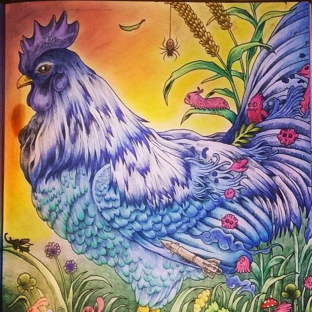 The Second Rooster On Dubbelpage Kerbyrosanes Animorphia Blue