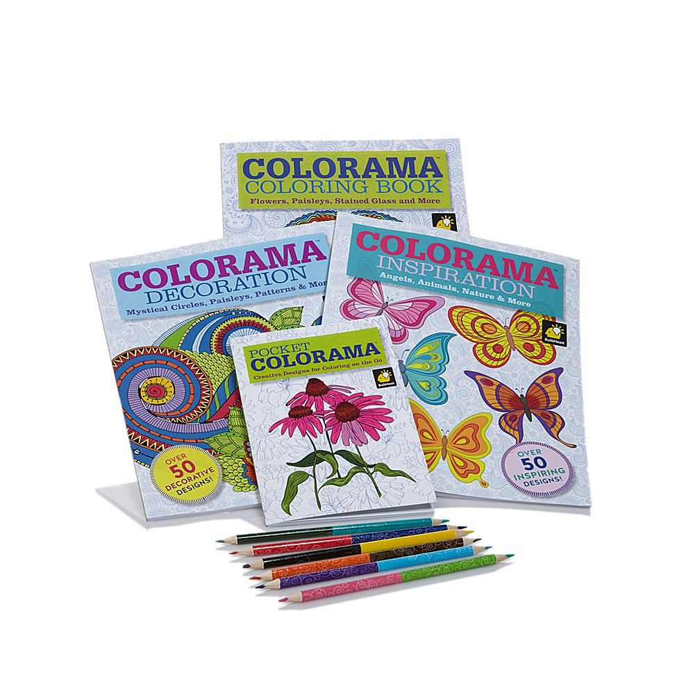 As Seen On TV Colorama Coloring Books Collection With Pencils