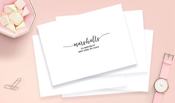 save time with these custom wedding guest address labels these