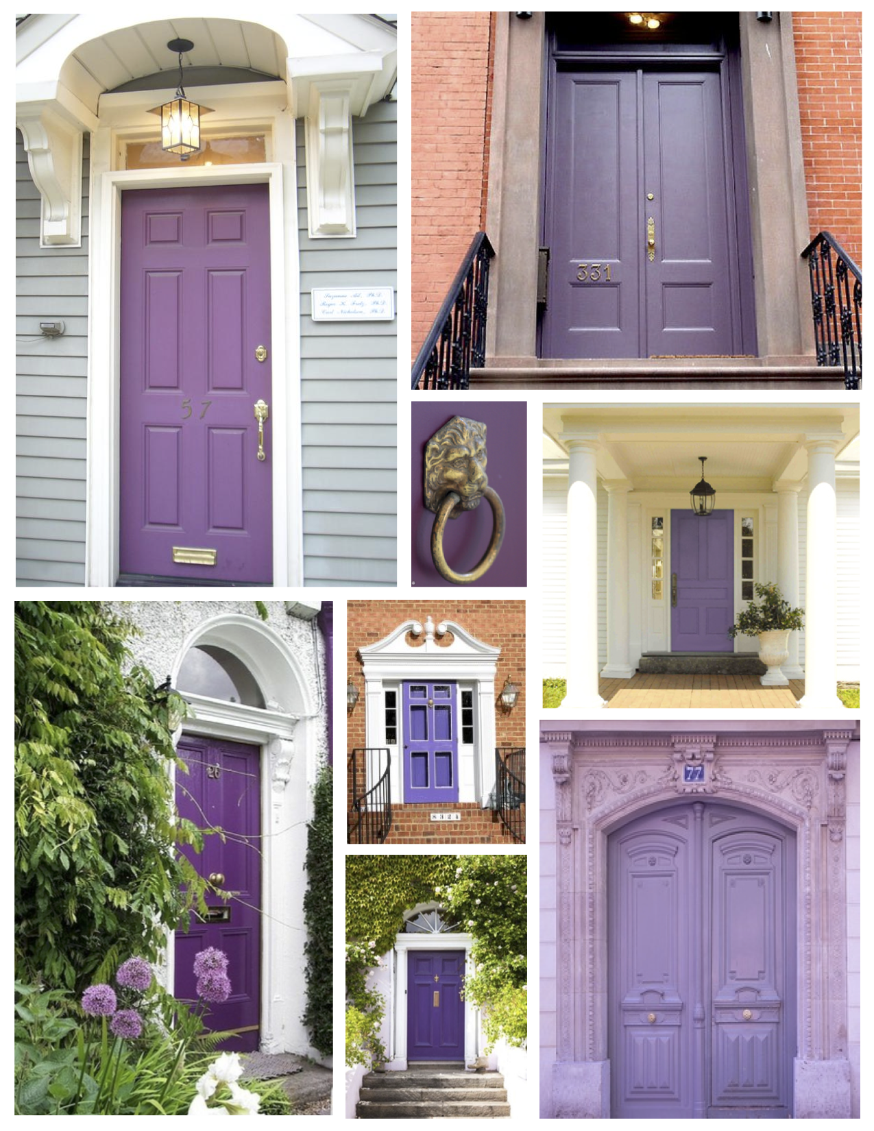 Painted exterior front doors - Exterior Color Inspirations The Regal Dramatic Purple Painted Door
