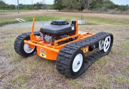 remote control tank tread lawnmower craziest gadgets electronics pinterest rasenm her. Black Bedroom Furniture Sets. Home Design Ideas