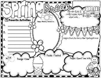 Spring Break: Writing: Activity Poster