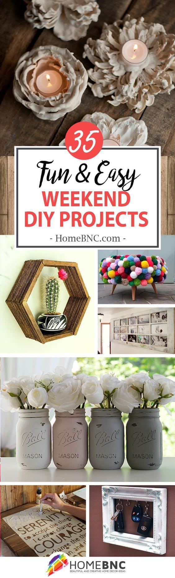 Weekend DIY Home Decor Project Ideas DIY home decor