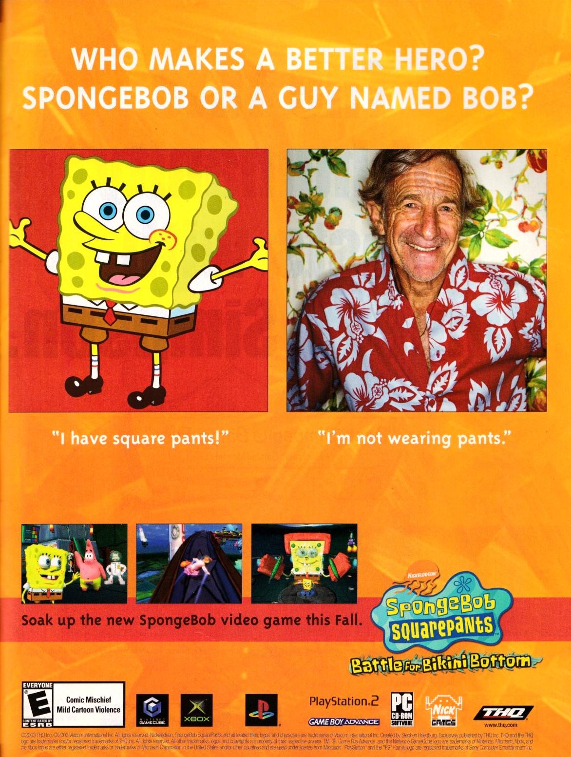 'SpongeBob SquarePants Battle for Bikini Bottom'[PC / PS2
