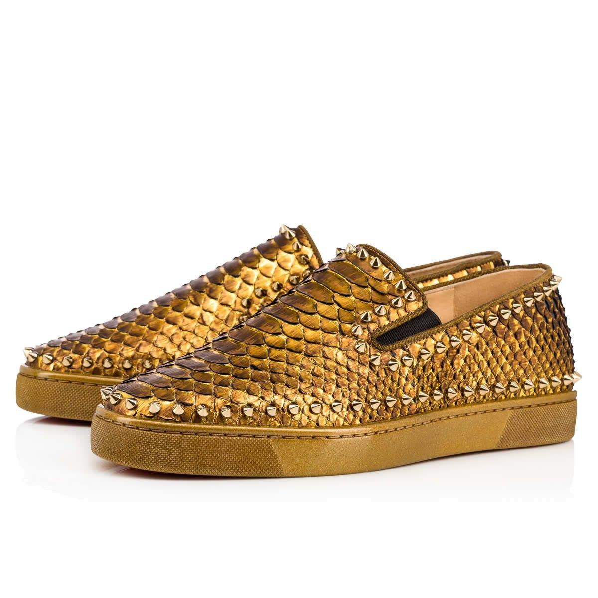 57edf5478948 CHRISTIAN LOUBOUTIN Pik Boat Python Cuirasse Antic Gold Bronze Python - Men  Shoes - Christian Louboutin.  christianlouboutin  shoes