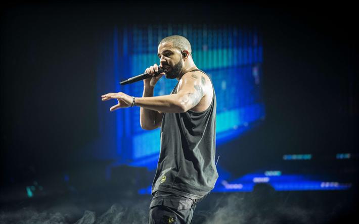 Download wallpapers Drake, 2018, concert, canadian rapper