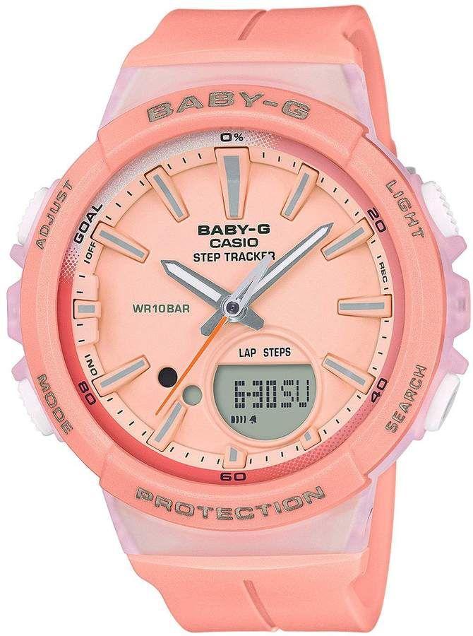 837ec8ec05aa Casio Baby G Casio Baby G step tracker coral resin strap ladies watch