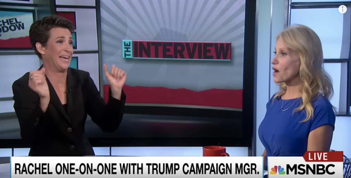 rachel maddow and kellyanne conway got into perhaps the most awkward