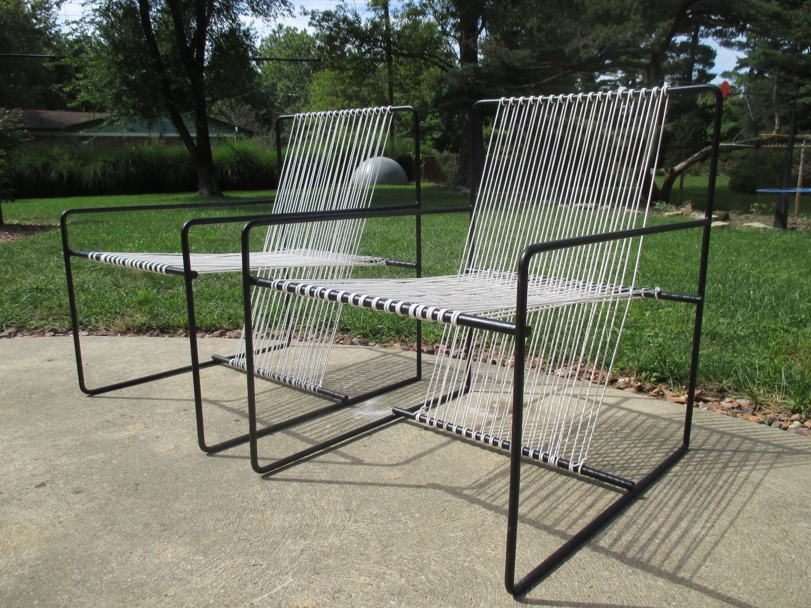 Mid Century Patio Modern Design Vintage Chairs van keppel green