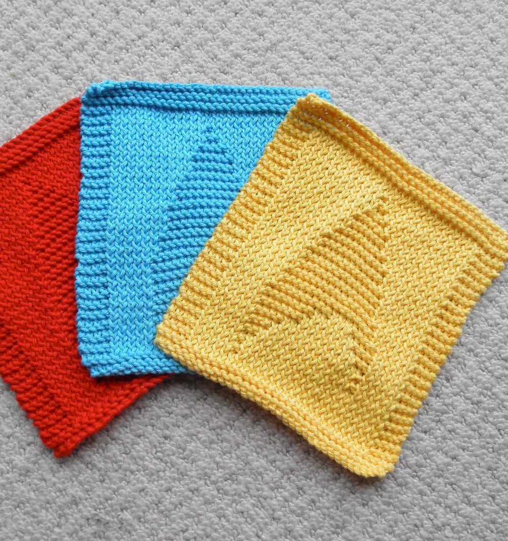 Free Knitting Pattern for Baby Trekkie Washcloth - Star Trek ...