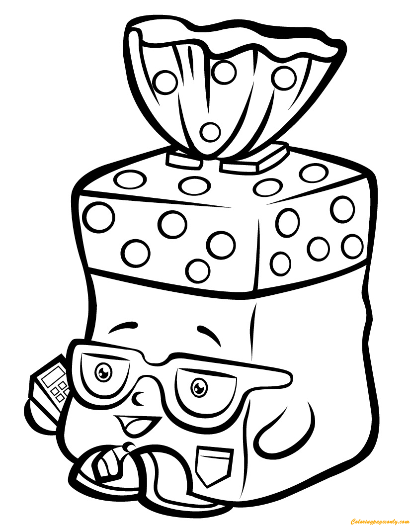 Pin by Coloring Pages on Shopkin Coloring Pages | Pinterest | Bread head