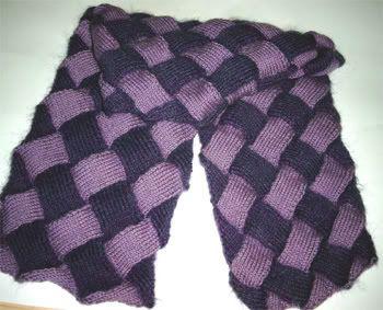 tricoter l'entrelac