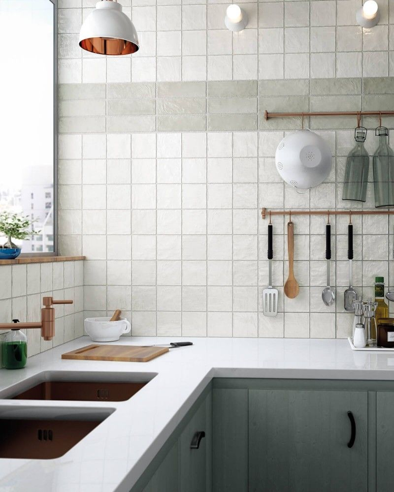 - Montauk Gin 4x4 Ceramic Wall Tile (With Images) Kitchen Layout