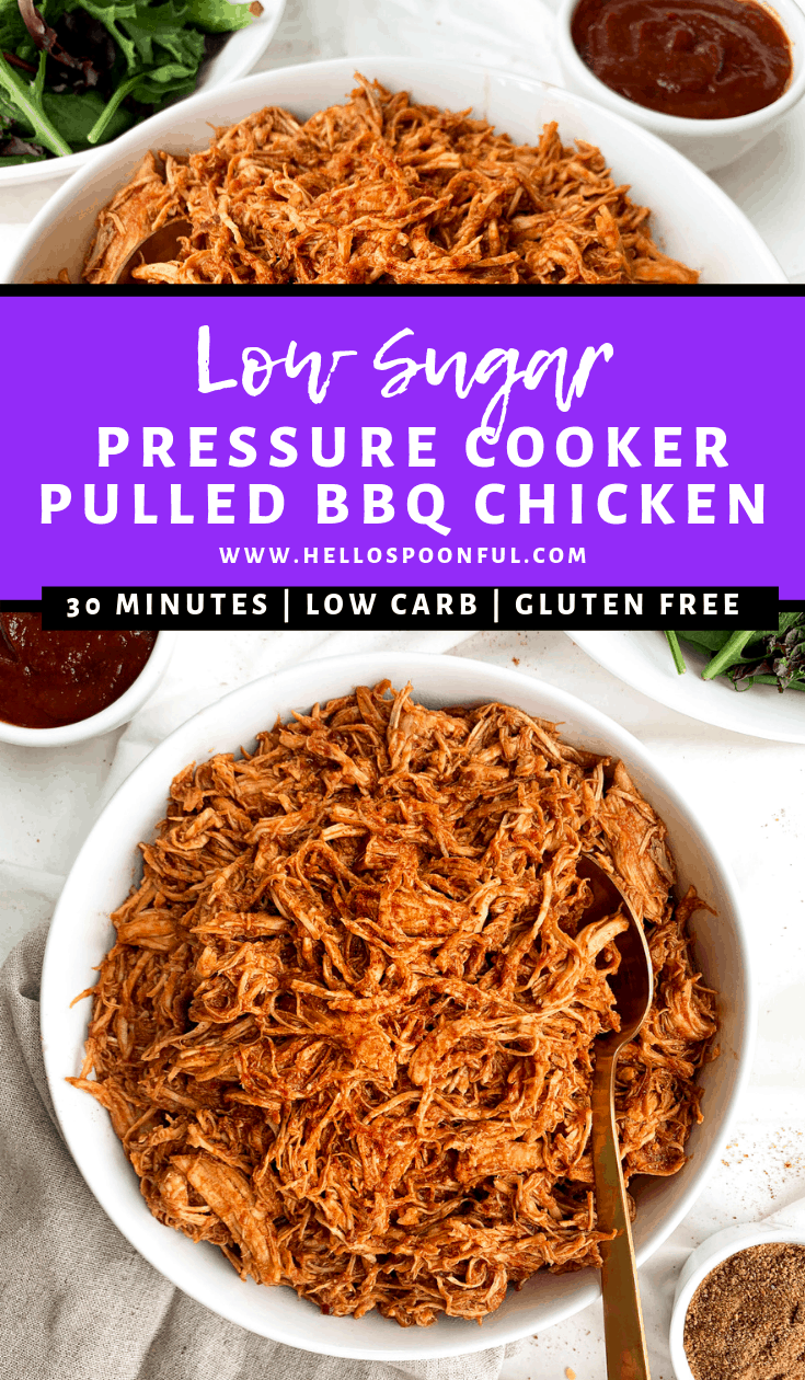 Pressure Cooker BBQ Pulled Chicken Recipe | Gluten-Free, Low-Carb