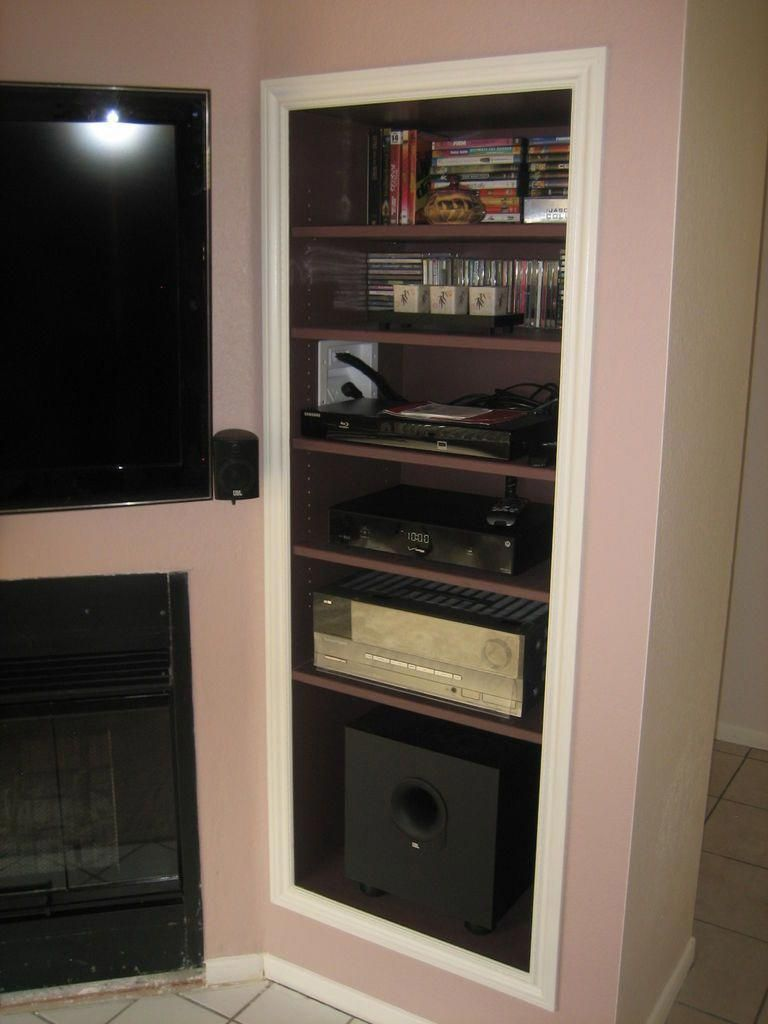 How To Create A Recessed Audio Video Pier For Wall Mounted Tv Tvwallmountingideas