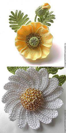 Вязание крючком #crochetedflowers