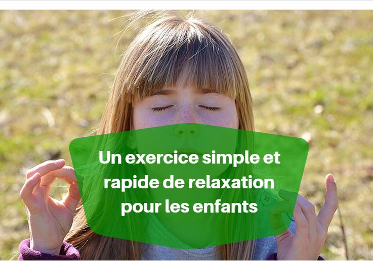 Un Exercice Simple De Relaxation Pour Les Enfants Yoga Detente Relaxation Enfant Yoga Enfant