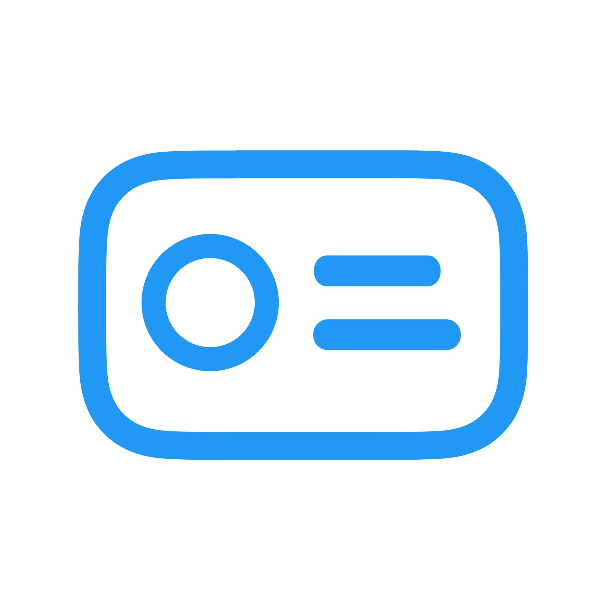 White and Blue Logo of LinkRick Logos, Social media