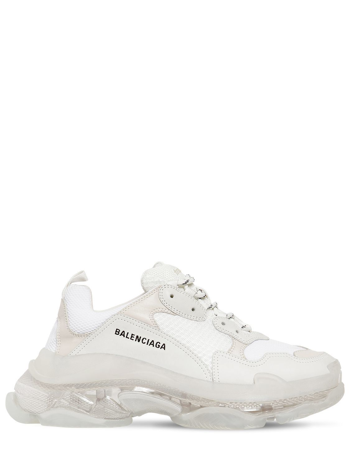 cfc3bbc9423 BALENCIAGA TRIPLE S BUBBLE SOLE SNEAKERS. #balenciaga #shoes White  Balenciaga Sneakers, Balenciaga