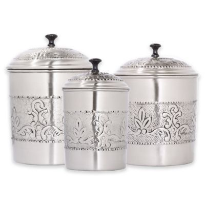 A Juxtaposition Of Old And New, The Old Dutch International Antique  Embossed Victoria Canister Set