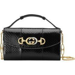 Photo of Gucci Zumi Mini-Schultertasche aus Schlangenleder Gucci