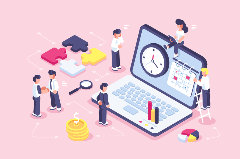 Time Management Concept Time Management Business Illustration Concept