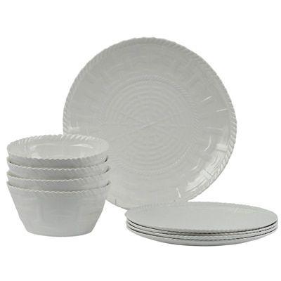 Encore Concepts Handmade Melamine Woven White 12-piece Dinnerware Set ( Philippines) (Melamine  sc 1 st  Pinterest & Encore Concepts Handmade Melamine Woven White 12-piece Dinnerware ...