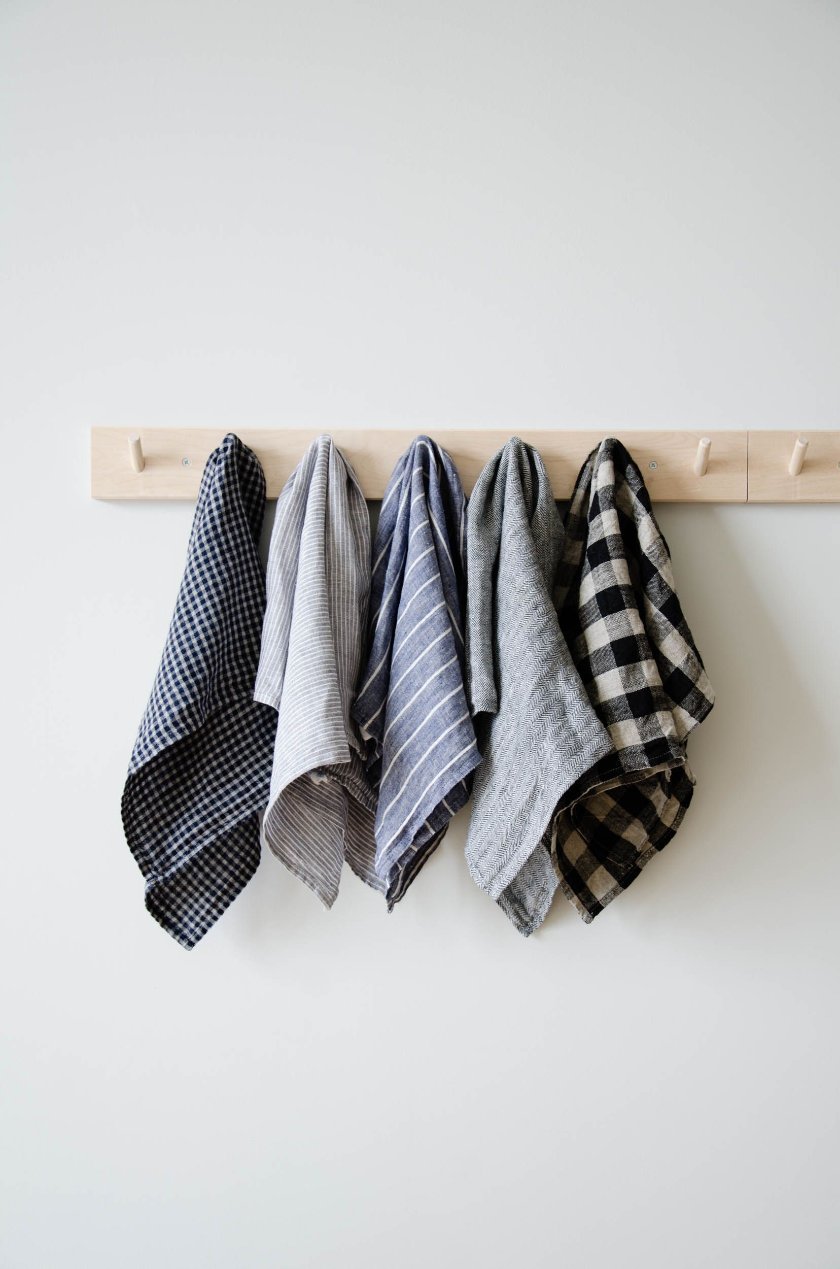 Linen Tea Towel Navy And White Stripes June Linen Kitchen