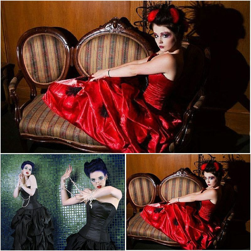 Victorian Corset Gothic/Civil War Southern Belle Ball Gown