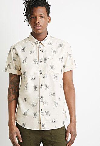 Safari Animal Print Shirt 21 Men 2000115393 Animal Print