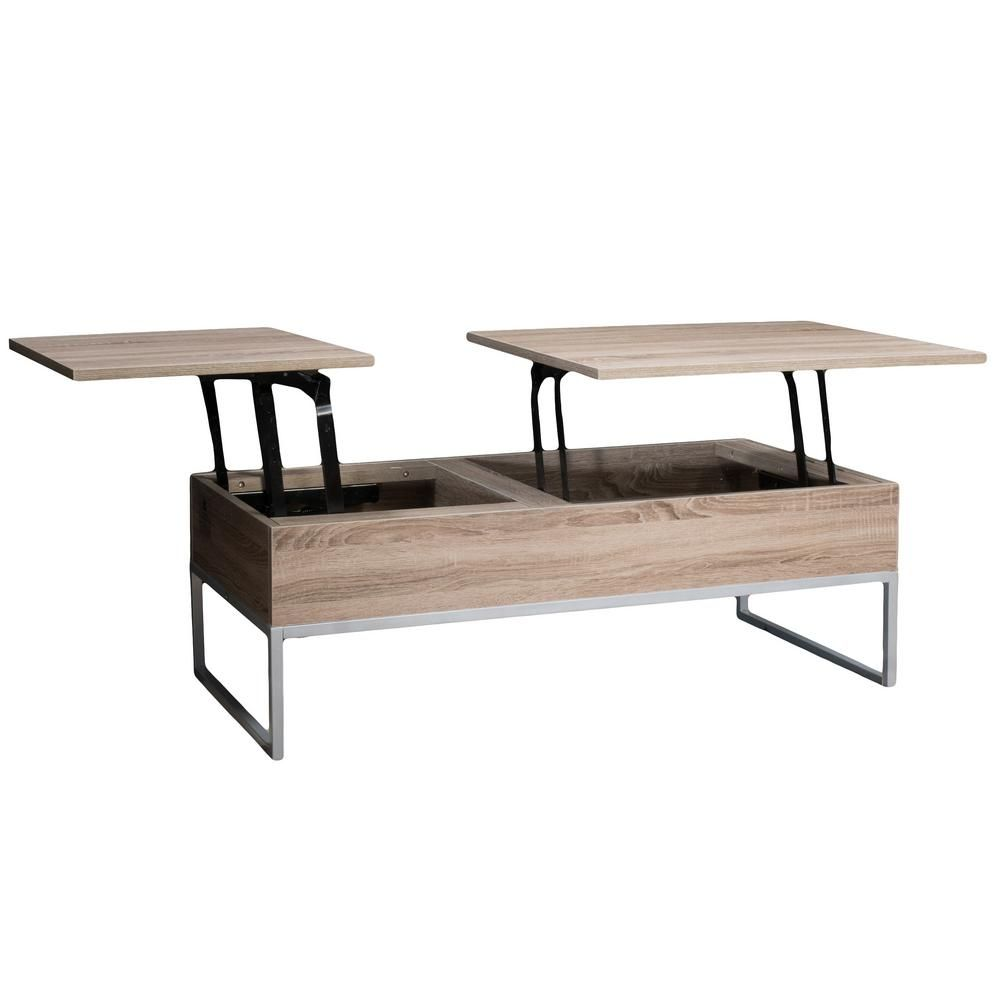 Noble house saele dark sonoma lift top storage coffee table