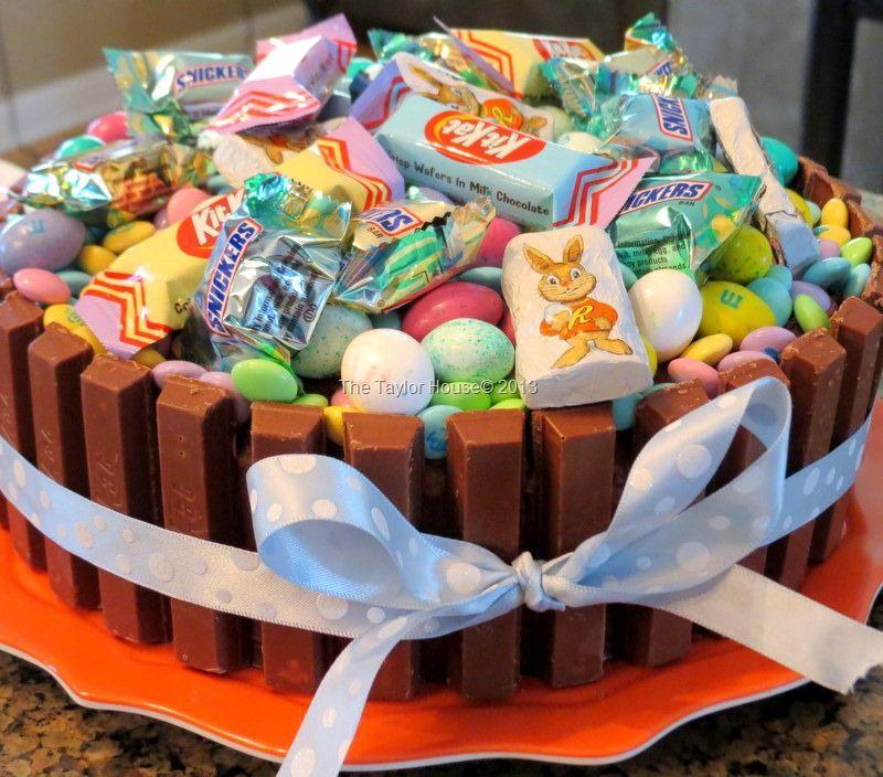 Easter basket kit kat cake recipe kit kat cakes and easter baskets easter basket kit kat cake negle Images