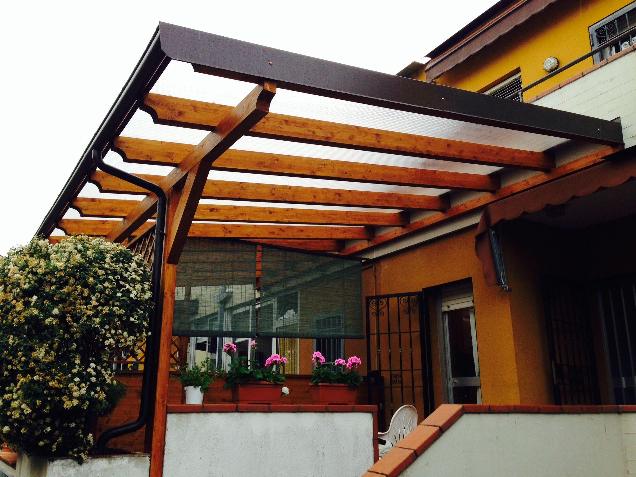 Coperture Gazebo In Policarbonato pergolato in legno copertura policarbonato costruito su