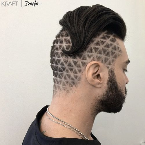 100 cool short hairstyles and haircuts for boys and men for Tattoo hair line