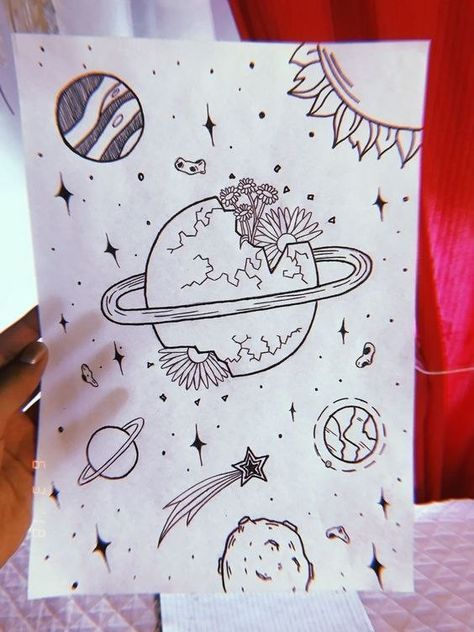 Pin by Julissa ! on Cool DIY in 2020   Space drawings