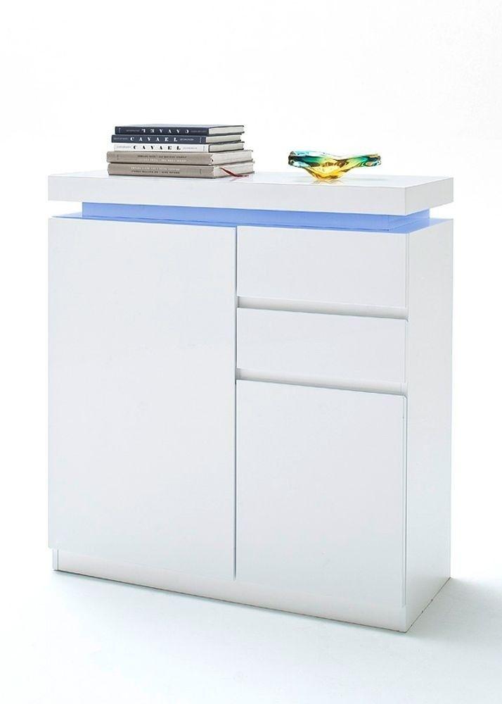 Schuhschrank Ocean Hochglanz Weiß mit LED 8165 Buy now at