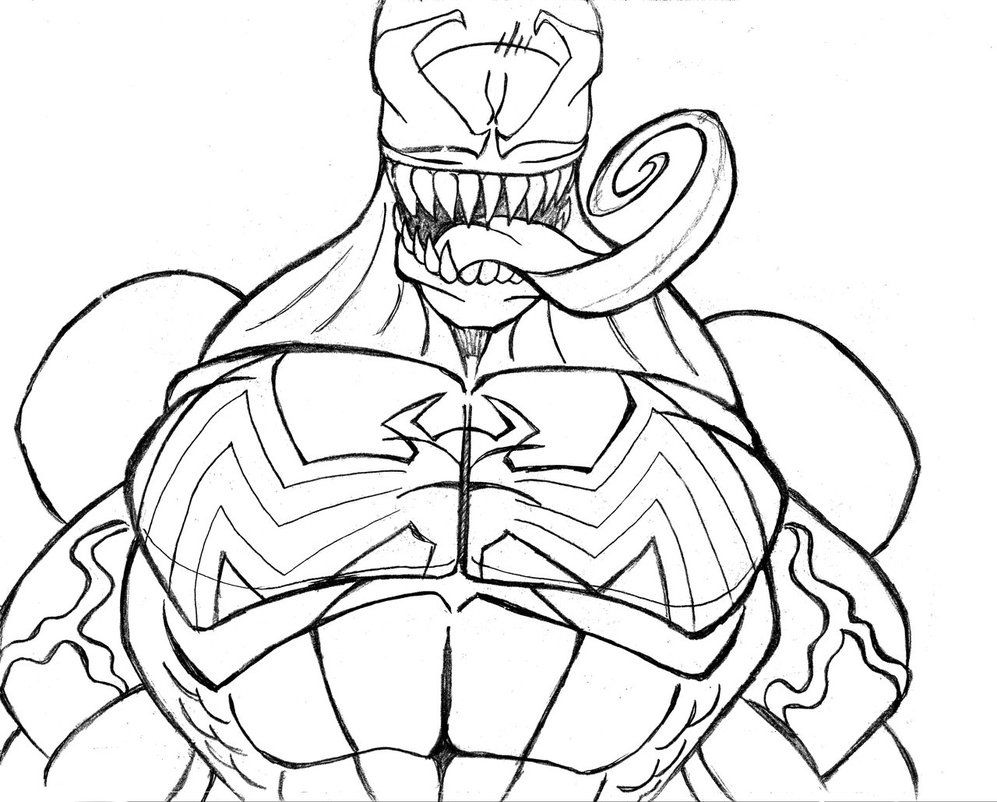 printable venom coloring pages comic book coloring pages